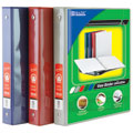 BAZIC 1 Asst. Color 3-Ring View Binder w/ 2-Pockets