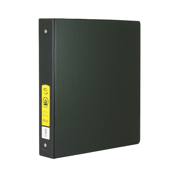 BAZIC 1 Black 3-Ring Binder w/ 2-Pockets
