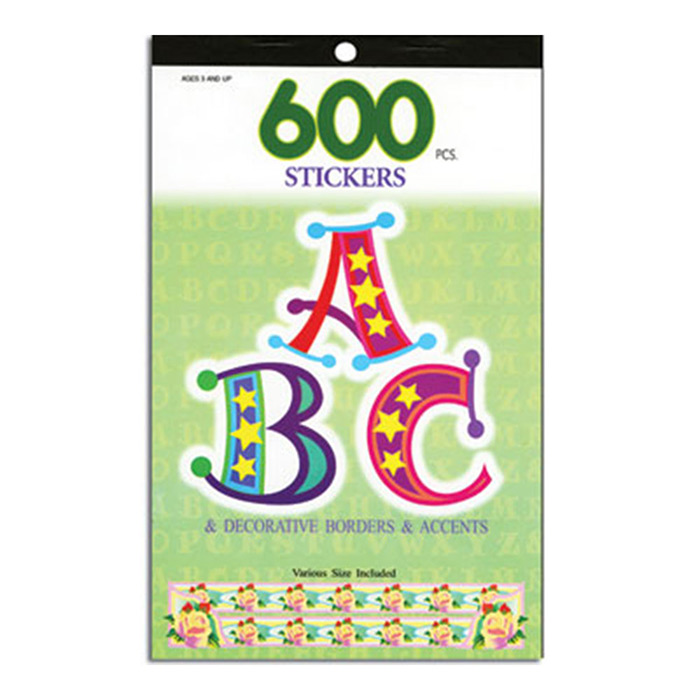 Alphabetical Series Assorted Sticker (600/Pack)
