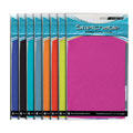 Asstd. Color 8.5 X 11 Jumbo Stretchable Fabric Book Covers