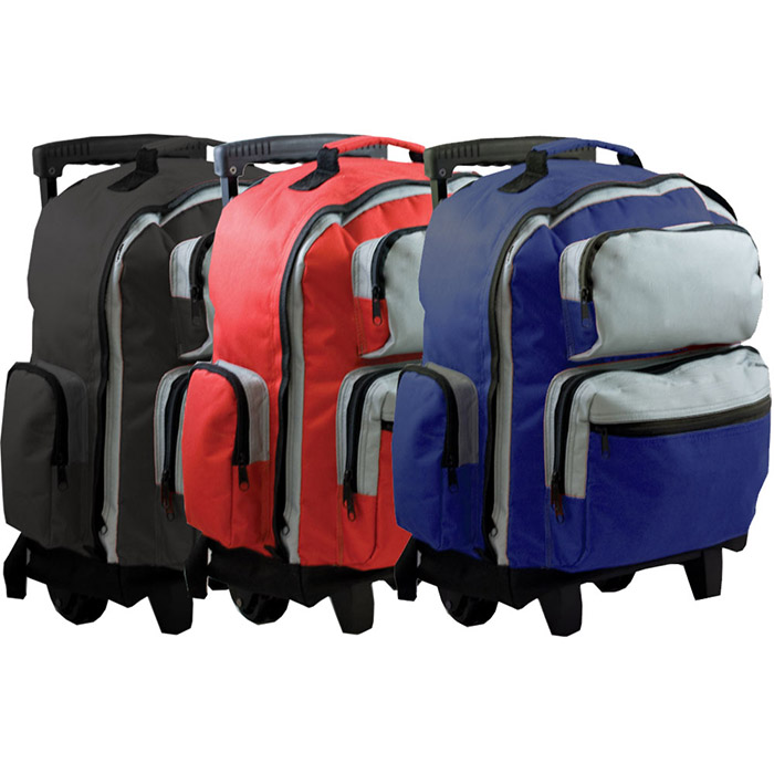 18 Two-Tone Rolling Backpack